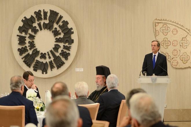 Σαμαράς:«Ομπρέλα» πάνω από την Κύπρο η συνεργασία Αθήνας-Λευκωσίας