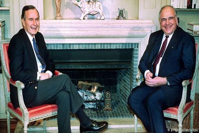 Τζορτζ Μπους: «Η ενωμένη Γερμανία εκπλήρωσε τις προσδοκίες μου»