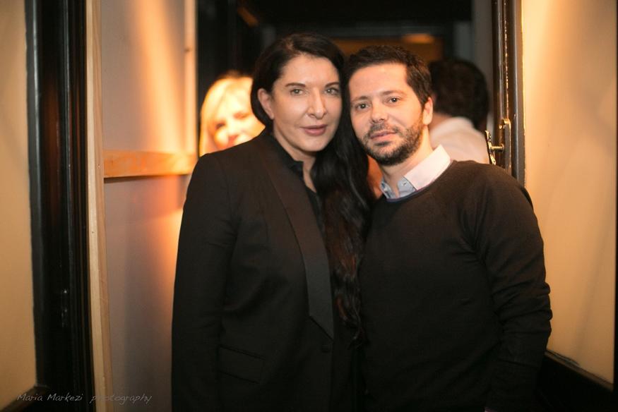 Με την Μαρίνα Αμπράμοβιτς.
