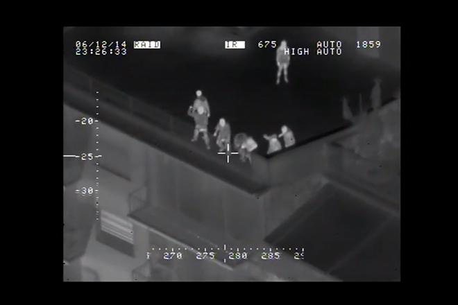 Λήψεις από την κάμερα του ελικοπτέρου της ΕΛΑΣ στη διαδήλωση του Σαββάτου