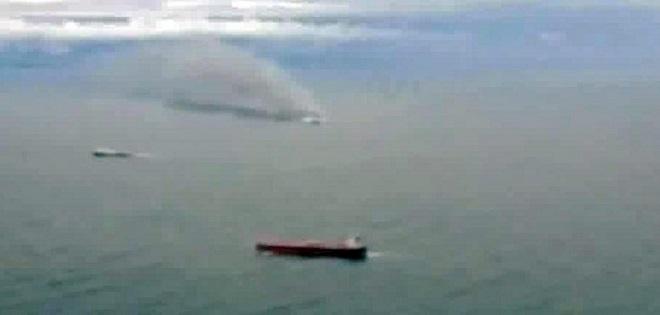 Ferry on fire off Greece