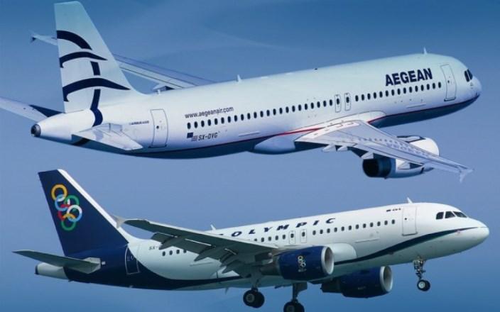 Ακυρώσεις πτήσεων από Olympic-Aegean την Πέμπτη