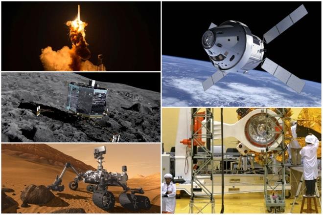 Οι σταθμοί στην εξερεύνηση του Διαστήματος το 2014