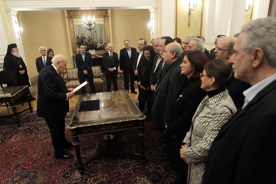 Ορκίστηκε η νέα ελληνική κυβέρνηση