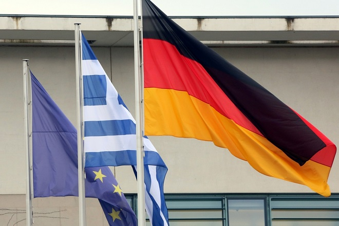 Σημαίες ΕΕ Ελλάδα Γερμανία
