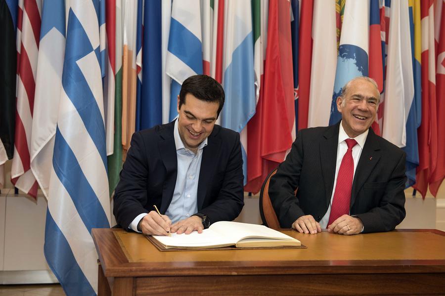 Έγγραφο συνεργασίας με τον ΟΟΣΑ υπέγραψε ο Αλέξης Τσίπρας