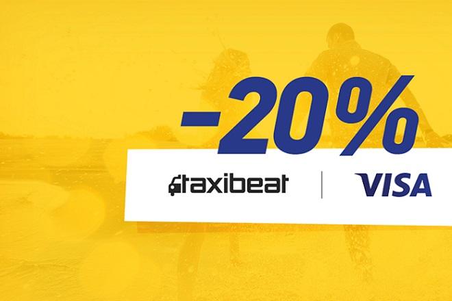 Taxibeat-Visa: -20% στα ταξί τον Απρίλιο