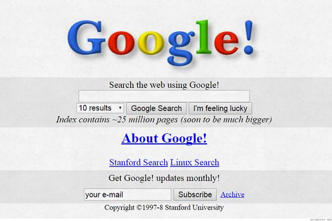 Δείτε πώς ήταν μερικές πολύ γνωστές ιστοσελίδες πριν 20 χρόνια