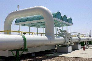 Part of the newly inaugurated Arab Gas Pipeline Project in Taba