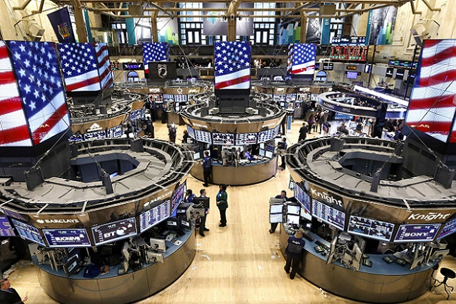 The trading floor of the New York Stock Exchange is seen ahead of the closing bell in New York
