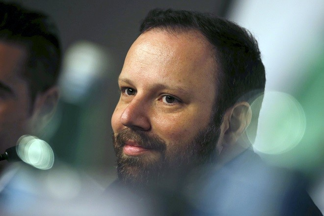 "Director Yorgos Lanthimos attends a news conference for the film ""The Lobster"" in competition at the 68th Cannes Film Festival in Cannes, southern France, May 15, 2015.    REUTERS/Regis Duvignau - RTX1D33A"