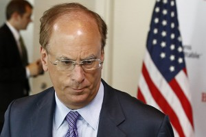 """BlackRock Inc Chief Executive Officer Larry Fink is pictured at a business roundtable meeting of company leaders and U.S. Republican Presidential candidate Mitt Romney in Washington in this June 13, 2012 file photo. Fink said on May 28, 2014 that leveraged exchange-traded funds contain structural problems that could """"blow up"""" the whole industry one day.     REUTERS/Jason Reed/Files    (UNITED STATES - Tags: POLITICS BUSINESS) - RTR3RA5A"""