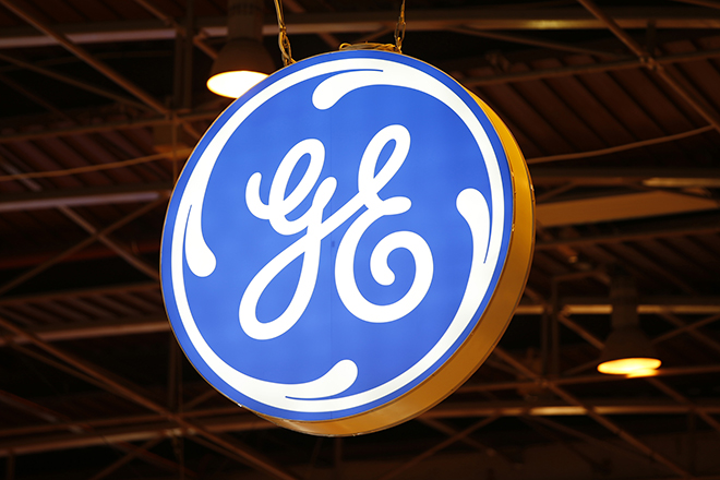 The logo of General Electric is pictured at the 26th World Gas Conference in Paris, France, June 2, 2015.  REUTERS/Benoit Tessier  - RTR4YIOG