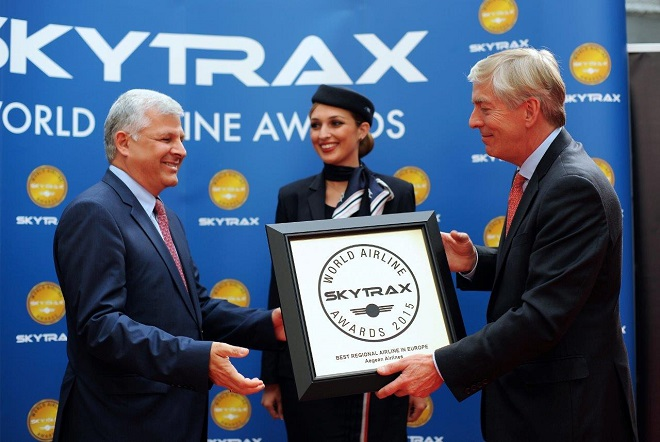 Aegean: Αναδείχθηκε ξανά η καλύτερη περιφερειακή αεροπορική εταιρεία στην Ευρώπη