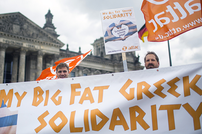 Διαδηλώσεις σε όλη την Ευρώπη κατά της λιτότητας και υπέρ της Ελλάδας
