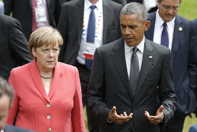 Υπέρ της εμπορικής συμφωνίας ΕΕ-ΗΠΑ η Μέρκελ και ο Ομπάμα