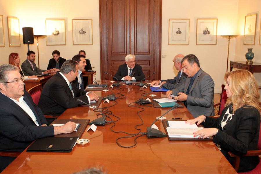 Η κοινή ανακοίνωση του συμβουλίου των πολιτικών αρχηγών