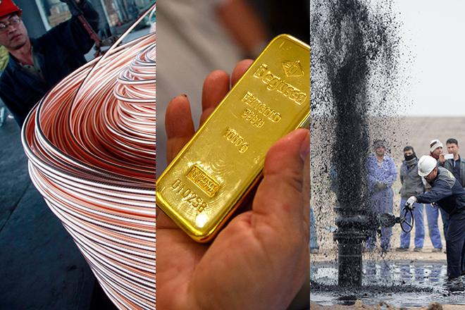 Γιατί καταρρέουν οι τιμές πετρελαίου, χρυσού και χαλκού;