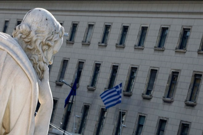 Bank-of-Greece-Statue-Greek