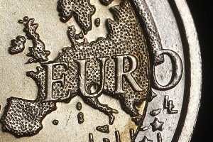The map of Europe is featured on the face of a two Euro coin seen in this photo illustration taken in Rome, December 3, 2011. Standard & Poor's has warned it may carry out an unprecedented mass downgrade of euro zone countries, including Germany and France, if EU leaders fail to deliver a convincing agreement on how to solve the region's debt crisis in a summit on Friday. Photo illustration taken December 3, 2011.     REUTERS/Tony Gentile (ITALY - Tags: BUSINESS TPX IMAGES OF THE DAY POLITICS) - RTR2UWPL