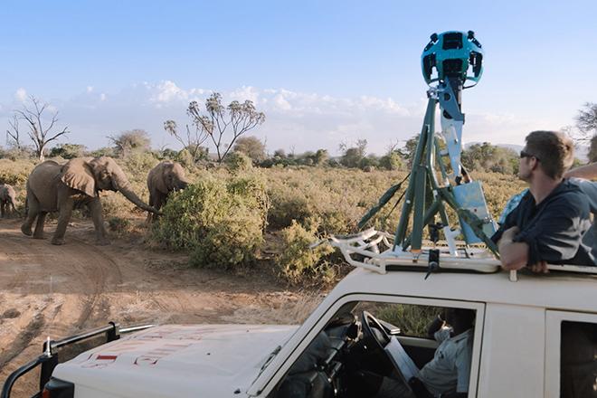 Περπατήστε μαζί με ελέφαντες στο Street View της Google