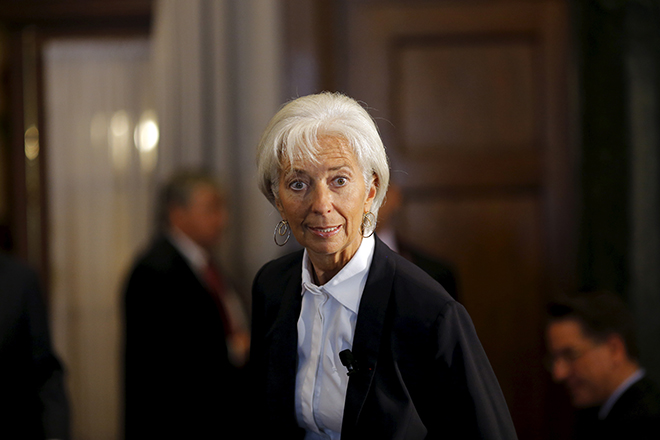 International Monetary Fund (IMF) Managing Director Christine Lagarde attends the Council of the Americas meeting in Washington September 30, 2015. REUTERS/Carlos Barria - RTS2G6H