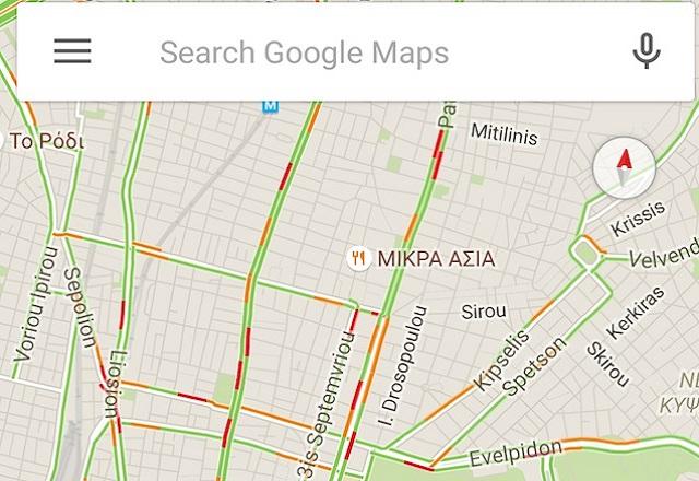 Η Google θα μας λέει πόση κίνηση έχουν οι δρόμοι