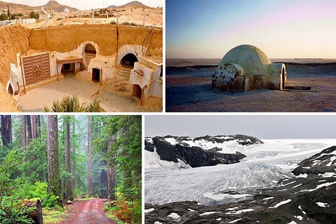 Δεκαεπτά τοποθεσίες του Star Wars που μπορείτε να επισκεφθείτε στην πραγματικότητα