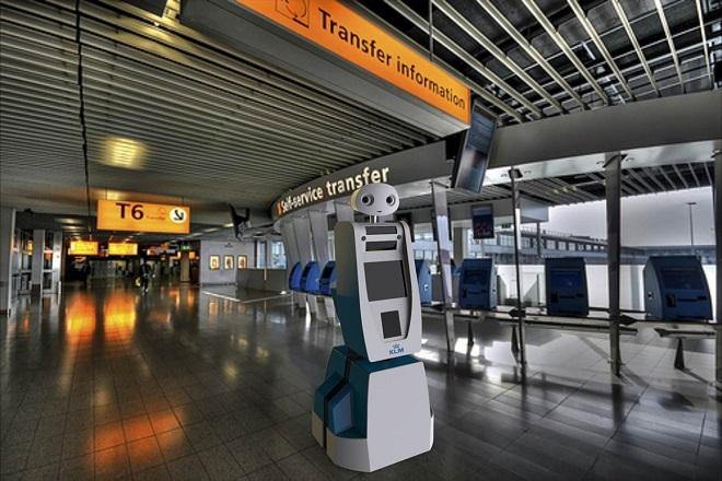 Τα πρώτα ρομπότ που θα βοηθούν τους επιβάτες «ανέλαβαν δράση» στα αεροδρόμια
