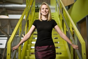 CD4112 Jul 07, 2008 - Mountainview, California, USA - MARISSA MAYER, VP of Search and User Experiences, Google is photographed on the Google campus in Mountainview, CA on July 7, 2008. From the high-tech scene, there has risen a new crop of accomplished female CEOs in a male-dominated industry. (Credit Ima