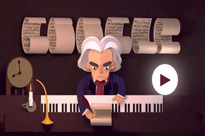 Google: Αφιερωμένο στον Μπετόβεν το σημερινό doodle