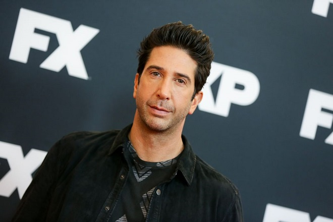David Schwimmer arrives at the 2016 FX Winter TCA at the Langham Huntington Hotel & Spa on Saturday, Jan. 16, 2016, in Pasadena, Calif. (Photo by Rich Fury/Invision/AP)