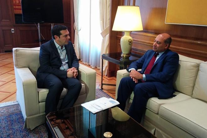Τα χρηματοδοτικά σχέδια της EBRD στο επίκεντρο της συνάντησης Τσίπρα – Τσακραμπάρτι