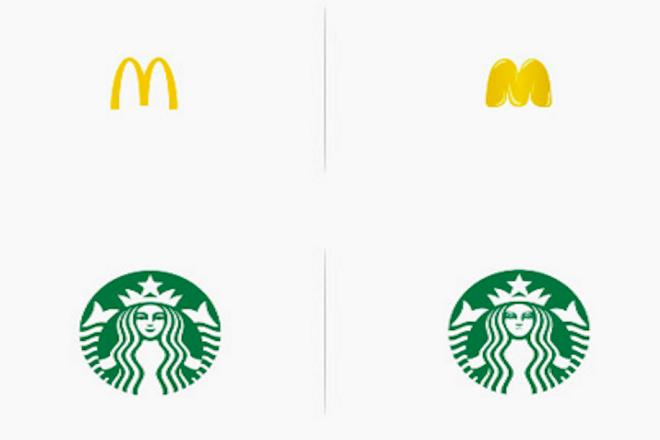 Πώς θα ήταν δέκα πασίγνωστα λογότυπα εάν βασίζονταν στο προϊόν τους;
