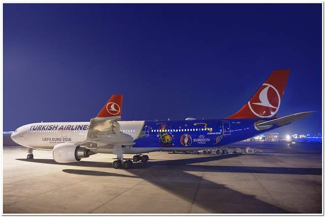 Turkish Airlines: Ένα αεροσκάφος αφιερωμένο στο φετινό  UEFA EURO