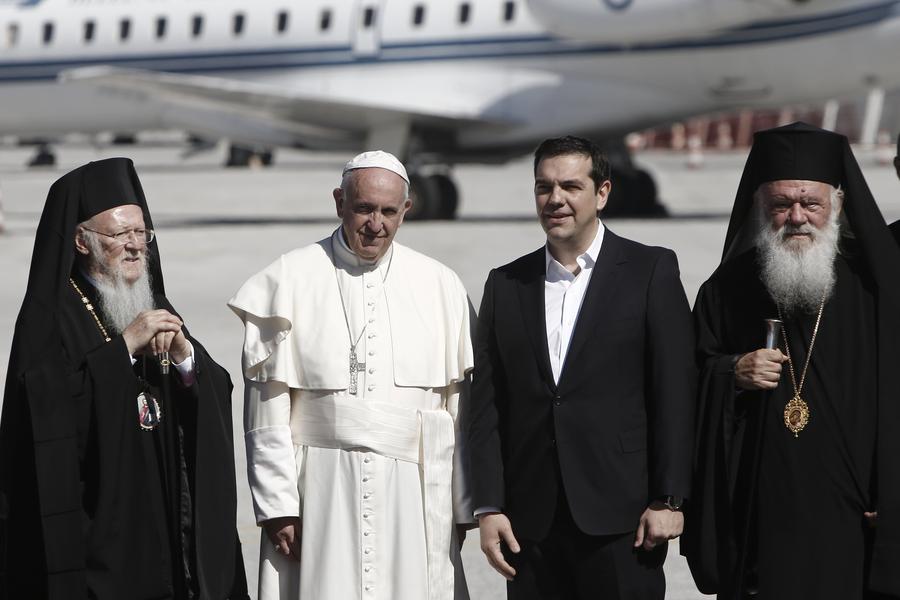 Στη Λέσβο ο Πάπας Φραγκίσκος μαζί με Ιερώνυμο, Βαρθολομαίο και Αλέξη Τσίπρα