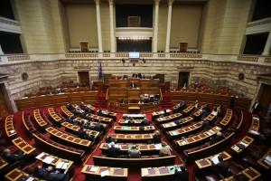 Συζήτηση στη Βουλή, Παρασκευή 15 Απριλίου 2016. Συζήτηση και λήψη απόφασης επί της προτάσεως που κατέθεσαν ο πρωθυπουργός και πρόεδρος της ΚΟ του ΣΥΡΙΖΑ Αλέξης Τσίπρας, οι βουλευτές του κόμματός του και ο πρόεδρος της ΚΟ των Αν.Ελ. Πάνος Καμμένος και οι βουλευτές του κόμματός του, για σύσταση Εξεταστικής Επιτροπής, σχετικά με τη διερεύνηση της νομιμότητας της δανειοδότησης των πολιτικών κομμάτων καθώς και των ιδιοκτητριών εταιρειών μέσων μαζικής ενημέρωσης από τα τραπεζικά ιδρύματα της χώρας. ΑΠΕ-ΜΠΕ/ΑΠΕ-ΜΠΕ/ΑΛΕΞΑΝΔΡΟΣ ΒΛΑΧΟΣ