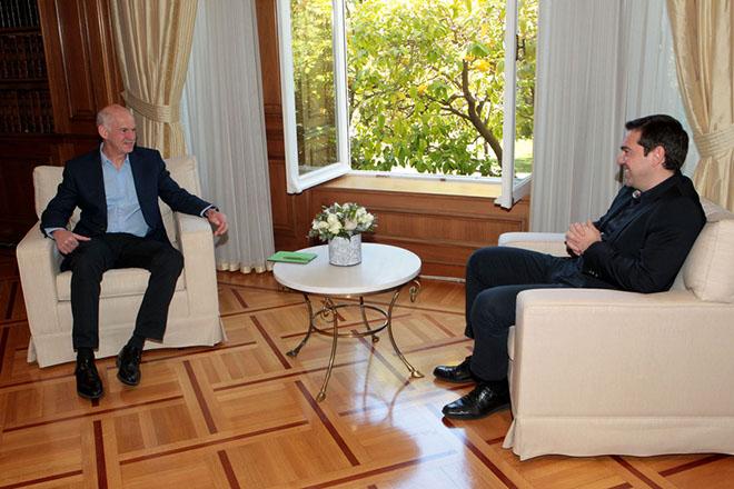 Τα εθνικά θέματα στο επίκεντρο της συνάντησης Παπανδρέου-Τσίπρα στο Μαξίμου