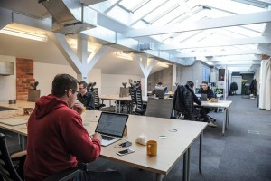 epa05032608 An interior view of the Google campus in the Koneser Praga Center historic building, which was opened in Warsaw, Poland, 19 November 2015. Google center, created to support start-ups, young and innovative companies in the technology industry, is the first of its kind in Central and Eastern Europe and the fifth, after Madrid, London, Tel Aviv and Seoul in the world. In the Campus young entrepreneurs can be able to exchange knowledge, meet with experts, take part in seminars and workshops. Four acting campuses in the world have a total of 70 thousand members and contributed to the creation of more than 4.6 thousand jobs so far.  EPA/MARCIN OBARA POLAND OUT
