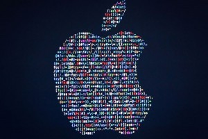 The Apple logo is displayed on a screen at Apple's annual Worldwide Developers Conference presentation at the Bill Graham Civic Auditorium in San Francisco, California, on June 13, 2016. / AFP / GABRIELLE LURIE        (Photo credit should read GABRIELLE LURIE/AFP/Getty Images)
