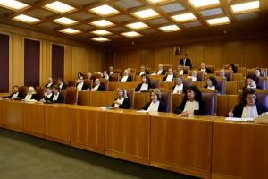 Αποψη από συνεδρίαση της ολομέλειας του Συμβούλιου της Επικρατείας ,  Δευτέρα 4 Ιουλίου 2016.  Εκδικάζεται στο Συμβούλιο της Επικρατείας οι αιτήσεις ακυρώσεως που έχουν καταθέσει οι ιδιωτικοί τηλεοπτικοί σταθμοί εθνικής εμβέλειας κατά αποφάσεων που σχετίζονται με τη διεξαγωγή του διαγωνισμού για την αδειοδότηση των τηλεοπτικών σταθμών . ΑΠΕ-ΜΠΕ/ΑΠΕ-ΜΠΕ/Παντελής Σαίτας