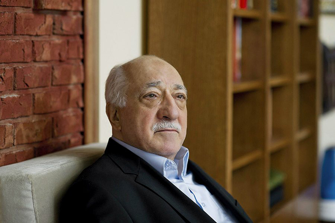 epa04139891 A handout picture made avaliable on 25 March 2014 provided by Zaman Turkish Daily newspaper shows Fethullah Gulen, an Islamic opinion leader and founder of the Gulen movement, poses during an interview at his residence in Pennsylvania, USA, 15 March 2014. Turkish Prime Minister Erdogan is considering banning YouTube and Facebook after local elections at the end of this month. Leaked recordings, which have not been verified, link Erdogan and his allies to corruption and attempts to control the media. Erdogan has blamed the leaks on followers of US-based Muslim cleric Fethullah Gulen, a one-time ally, but now a foe. Gulen denies the allegations.  EPA/SELAHATTIN SEVI/ZAMAN DAILY NEWSPAPER / HANDOUT   EDITORIAL USE ONLY