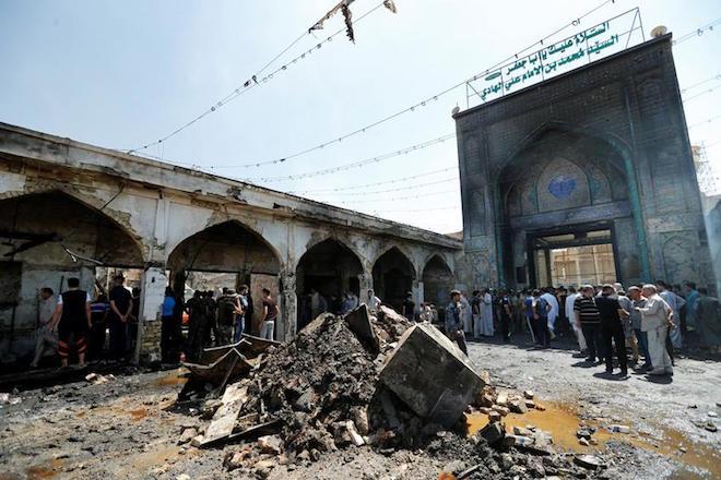 Δεκάδες νεκροί και τραυματίες από τη βομβιστική επίθεση στα βόρεια της Βαγδάτης (upd.)