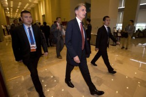 epa05437771 Britain's Chancellor of the Exchequer Philip Hammond (C) walks to a meeting during the G20 Finance Ministers and Central Bank Governors conference in Chengdu, Sichuan Province, Southwestern China, 23 July 2016. Finance Ministers and Central Bank Governors of the 20 most developed economies are to meet in the southwestern city of Chengdu ahead of a G20 leaders meeting in September hosted by China.  EPA/NG HAN GUAN/POOL