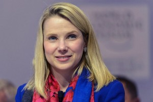 epa04576225 Marissa Mayer, Chief Executive Officer of Yahoo speaks during a panel session of the 45th Annual Meeting of the World Economic Forum (WEF) in Davos, Switzerland, 22 January 2015. The overarching theme of the Meeting, which takes place from 21 to 24 January, is 'The New Global Context'.  EPA/LAURENT GILLIERON