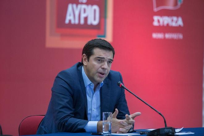 Ο πρόεδρος του ΣΥΡΙΖΑ Αλέξης Τσίπρας μιλάει, κατά τη διάρκεια συνέντευξης τύπου, στο πλαίσιο της 80ης ΔΕΘ, τη Δευτέρα  7 Σεπτεμβρίου 2015, στη ΘεσσαλονίκηΑΠΕ-ΜΠΕ/ΑΠΕ-ΜΠΕ/ΝΙΚΟΣ ΑΡΒΑΝΙΤΙΔΗΣ