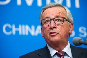 epa05523165 EU Commission President Jean-Claude Juncker give a press conference within the framework of the G20 Summit in Hangzhou, China, 04 September 2016. The G20 Summit is held in Hangzhou on 04 to 05 September.  EPA/BERND VON JUTRCZENKA