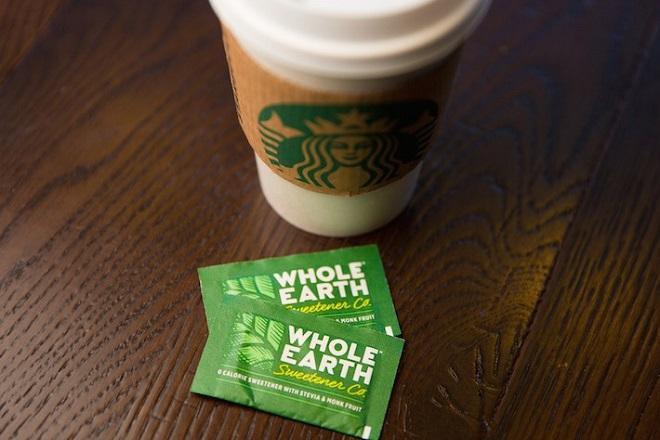 Whole Earth sweetener photographed on August 25, 2016. (Joshua Trujillo, Starbucks)