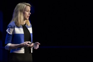 SAN FRANCISCO, CA - FEBRUARY 18: Yahoo! President and CEO Marissa Mayer delivers a keynote during the Yahoo Mobile Developers Conference on February 18, 2016 at The Masonic in San Francisco, California. Yahoo has recently announced a 15 percent reduction of its global workforce as the company continues to struggle in the rapidly-changing tech landscape. (Photo by Stephen Lam/Getty Images)