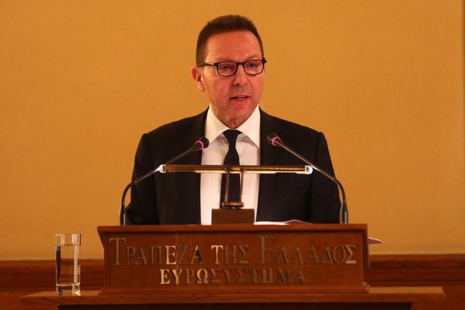 Ο διοικητής της Τράπεζας της Ελλάδας Γιάννης Στουρνάρας στο βήμα της 83ης ετήσιας τακτικής γενικής συνέλευσης των μετόχων της τράπεζας, Πέμπτη 25 Φεβρουαρίου 2016. ΑΠΕ-ΜΠΕ/ΑΠΕ-ΜΠΕ/ΟΡΕΣΤΗΣ ΠΑΝΑΓΙΩΤΟΥ
